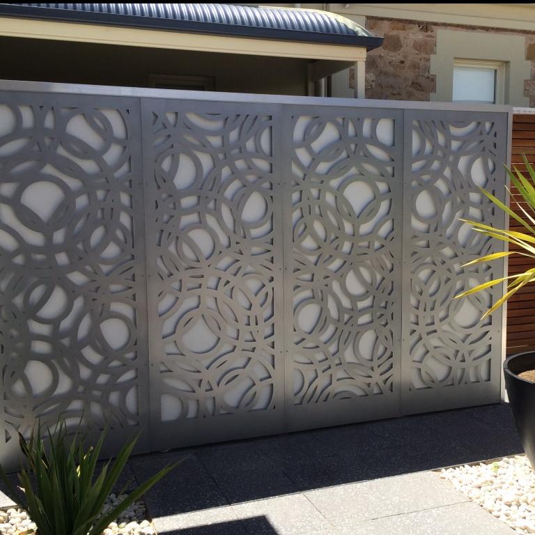 Outdoor Laser Cut Aluminum Metal Screen