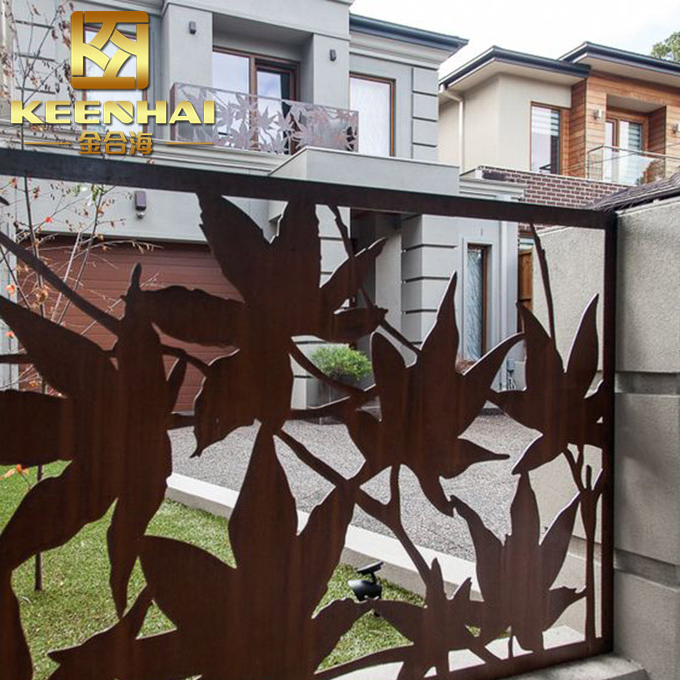 Custom Made Fence Screen Outdoor Partition With Delicate Design