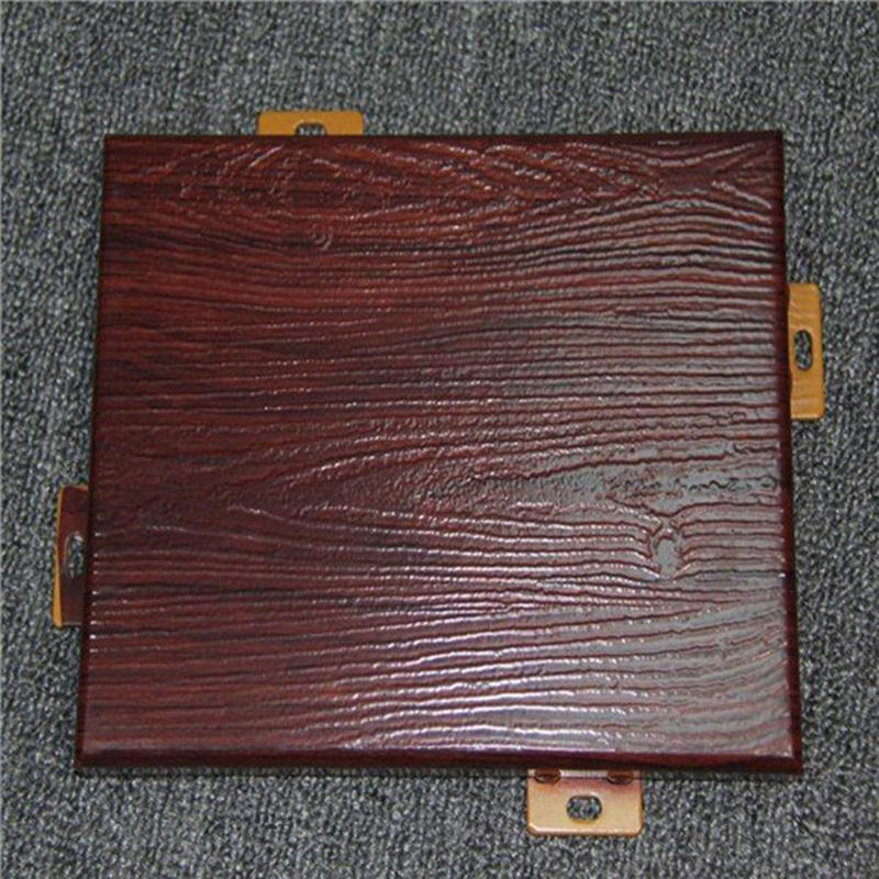 Building Decoration Materials wood grain  Aluminum Solid Panel