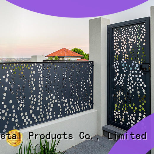 Keenhai low production cost metal fence panels for villa