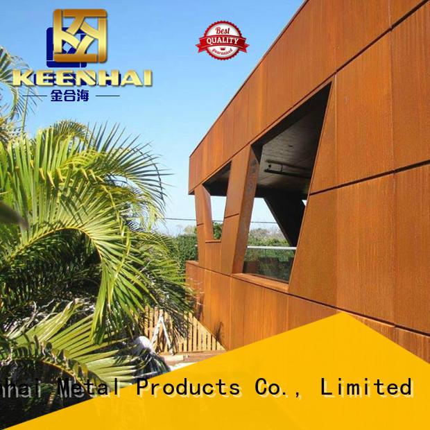 Keenhai standardized corten cladding provider for interior decoration