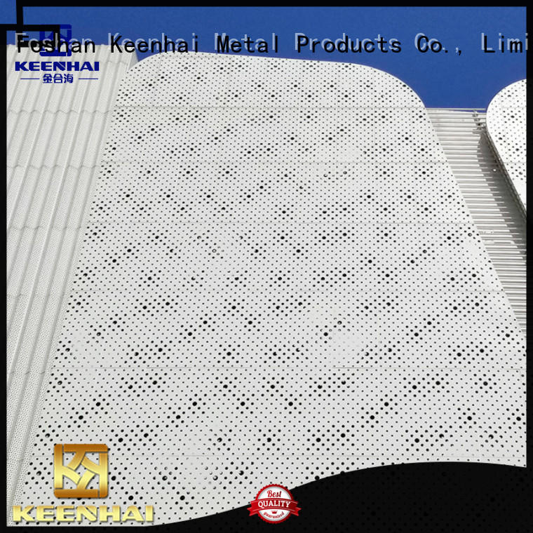 Keenhai strong packing decorative perforated aluminum sheet cladding for hotel