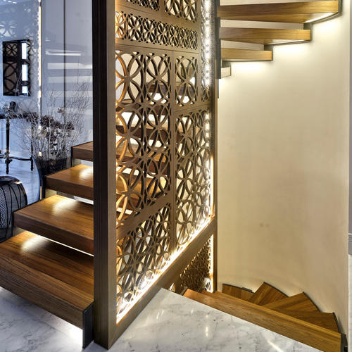Laser Cut Balustrade Handrail Metal Screen Partition