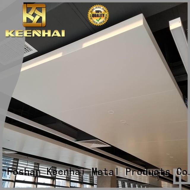 aluminum metal ceiling panels provider for office building Keenhai