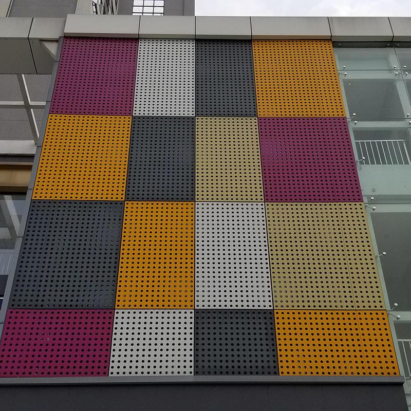 Metal Screen Decoration Wall Panel Aluminum Perforated Cladding Panel