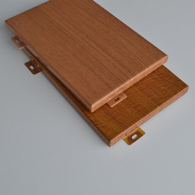 Building Decoration Materials wood grain  Aluminum Solid Panel