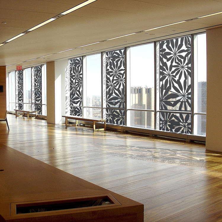 Interior Decorative Metal Screen With Black Color