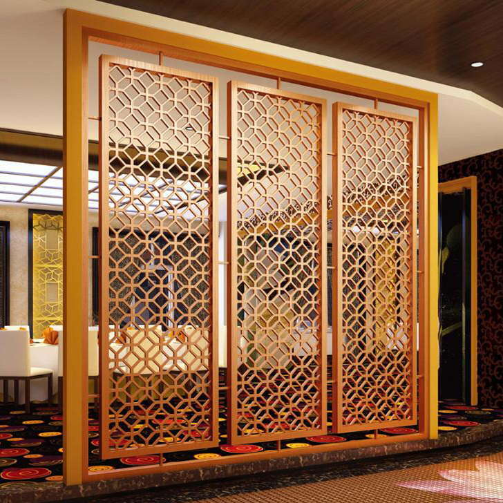 Interior Decorative Metal Screen With Black Color