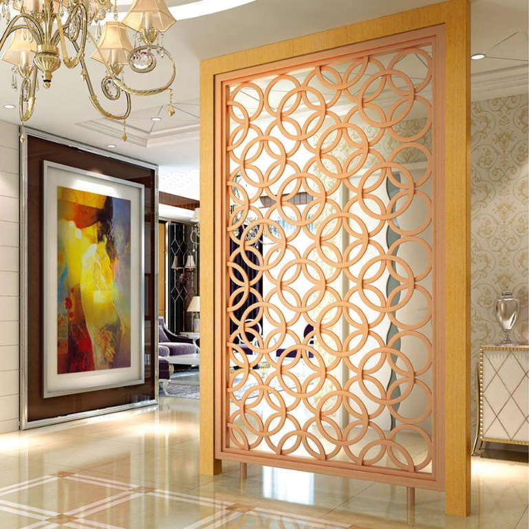 Golden Color Metal Screen Interior Custom Made