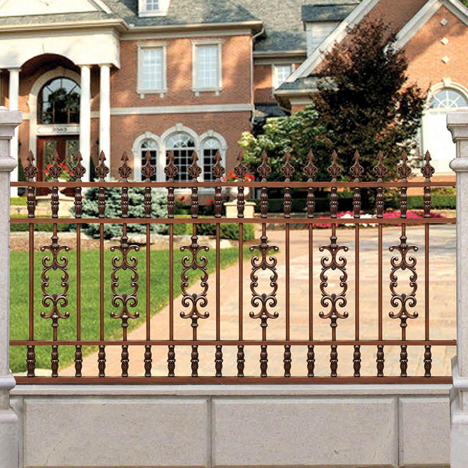 Courtyard Aluminum Fence For Garden