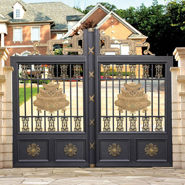 Metal Driveway Gate For Courtyard With Powder Coating