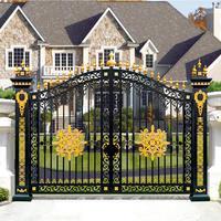 Aluminum Garden Gate Courtyard Metal Door