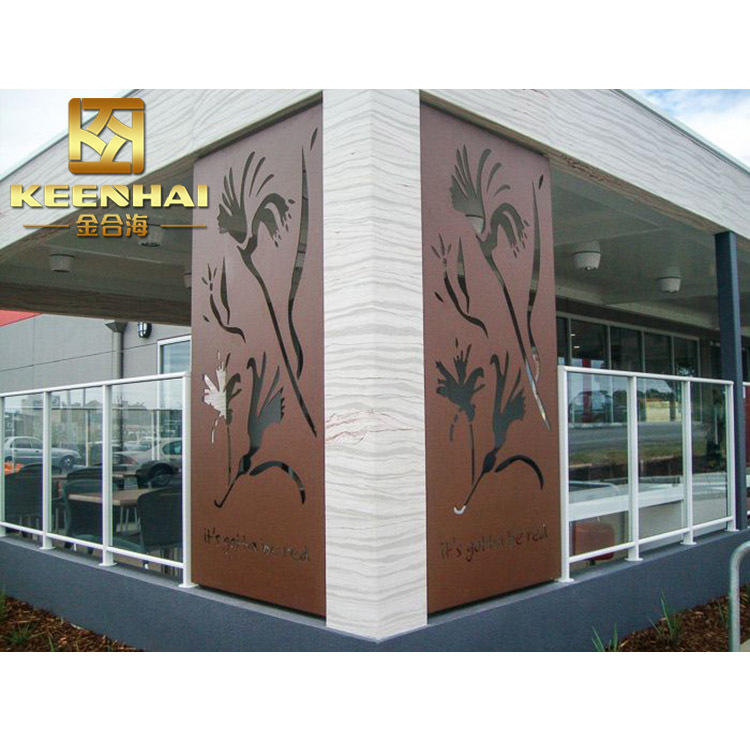 Aluminum Perforated Decorative Outdoor Laser Cut Partition Wall Metal Screen