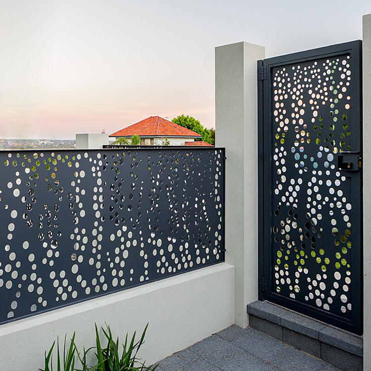 Courtyard Aluminum Laser Cut Gate Fence