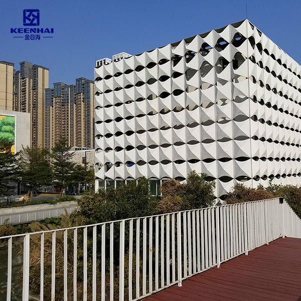 3D Aluminum Facade With PVDF Coating