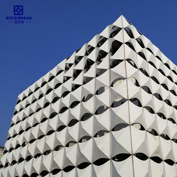 3D Aluminum Facade With PVDF Coating