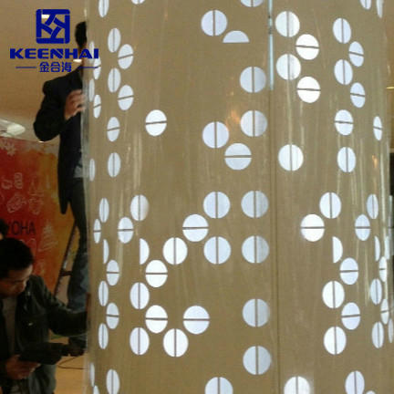 Laser Cut Metal Column Cladding Panel