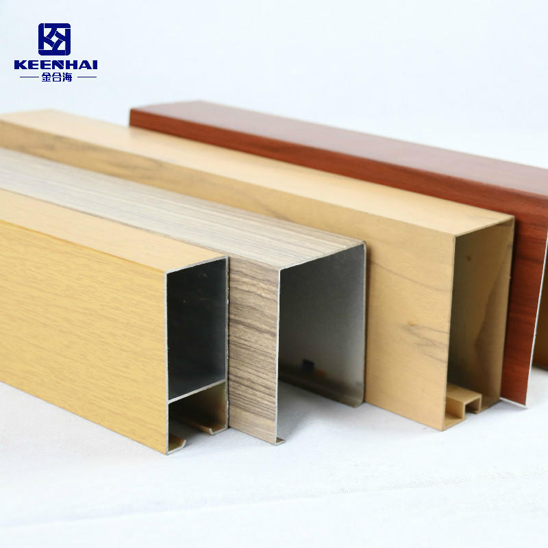 Aluminum Tubular Wooden Grain Painted Metal Ceiling