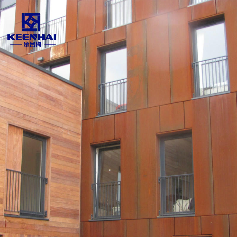Delicate Corten Steel Wall Cladding Panel Design