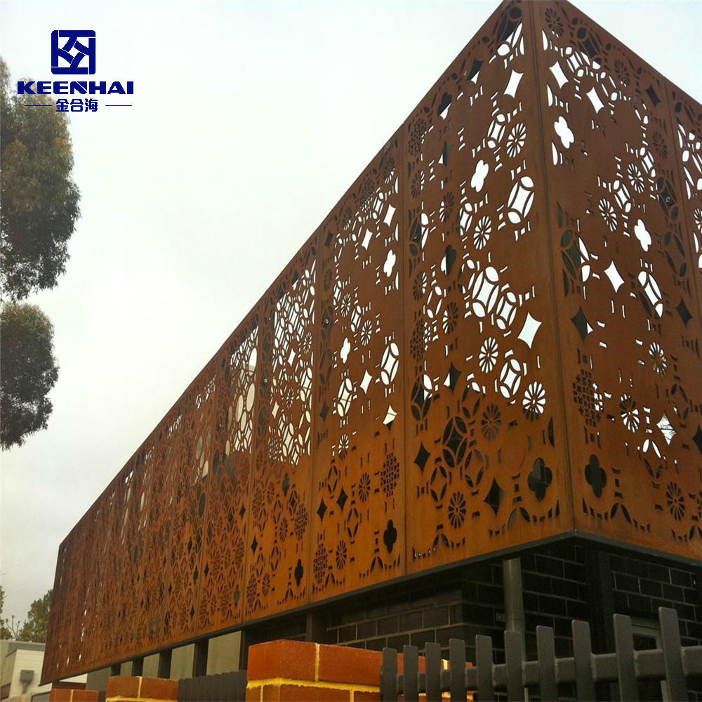 Decorative Corten Steel Solid Exterior Wall Facade Project
