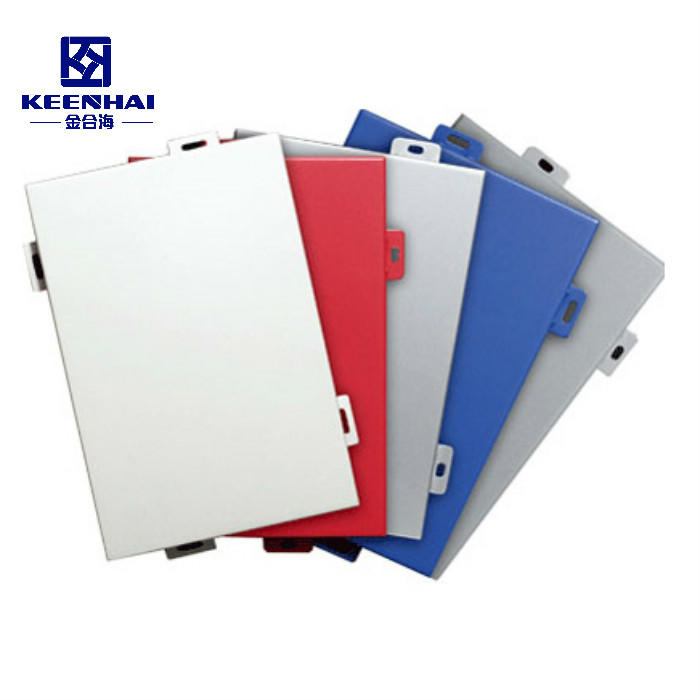 PVDF Powder Coating Solid Aluminum Facade Wall Panel