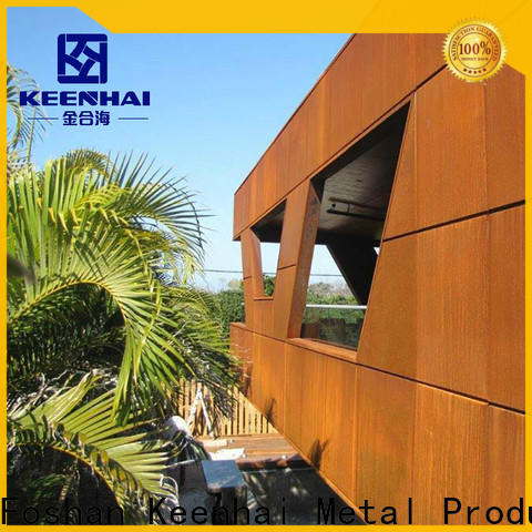 Keenhai exquisite corten steel siding supplier for indoor decoration