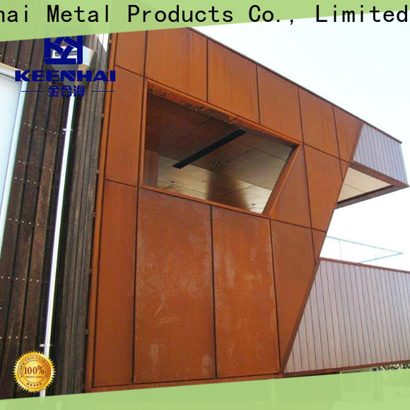 standardized corten steel cladding house from China for decoration