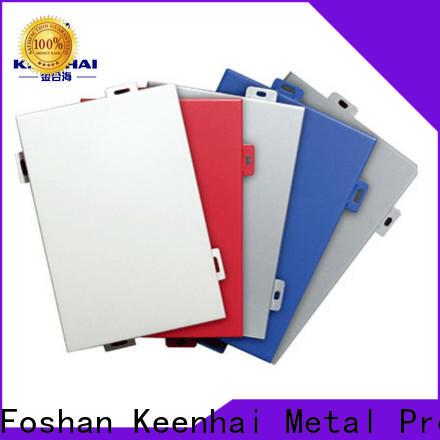 Keenhai standardized aluminium cladding panels design for exterior applications