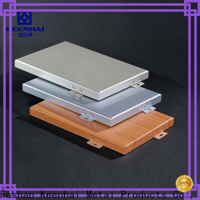 Keenhai standardized aluminium cladding panels design for renovations