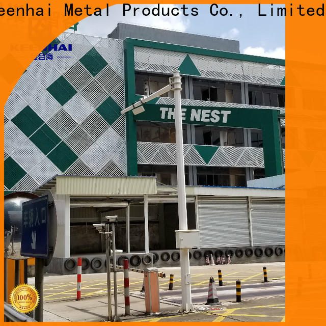 Keenhai aluminum perforated wall panel installation for decoration