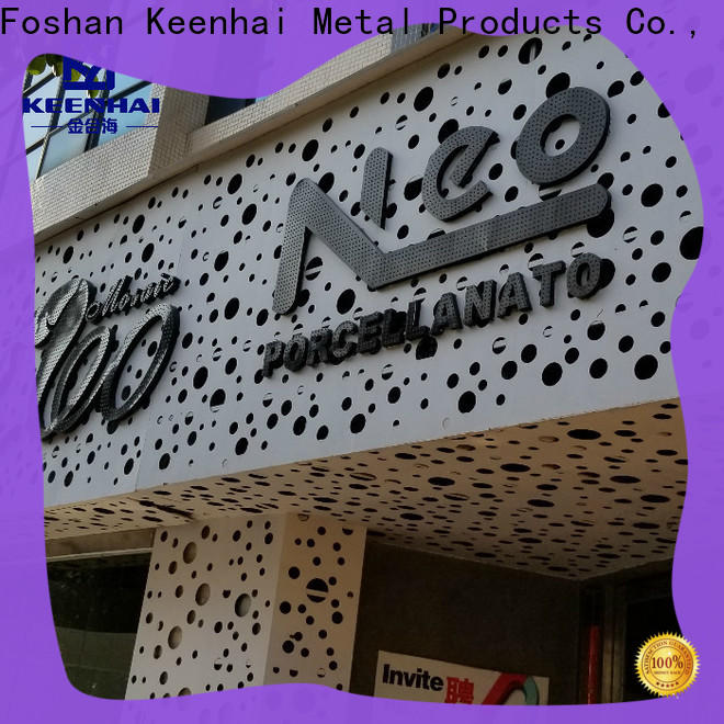 Keenhai sturdy construction perforated wall panel installation for hotel