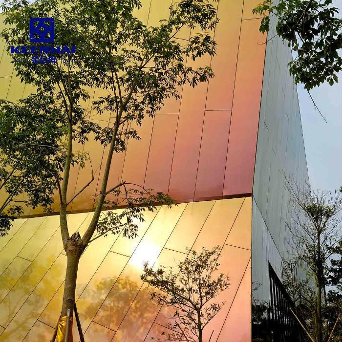 Facade Exterior Grain Solid Panels Aluminum Curtain Wall Panel