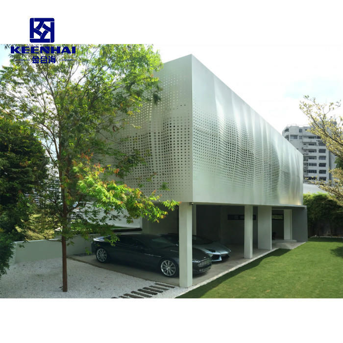 Decorative Alloy Aluminum Outdoor Curtain Wall Solid Metal Facade