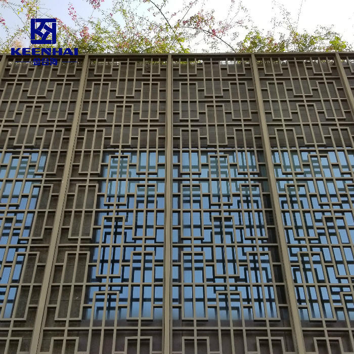 Raw Material For The Production Of Facade Mesh Aluminum Laser Cut Facade