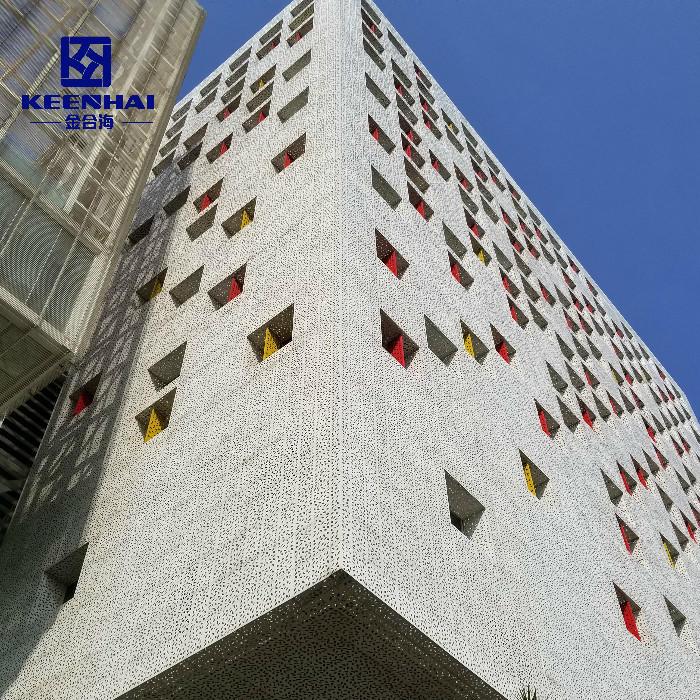 Aluminium Curtain Wall Systems Metal Wire Mesh Facade Cladding