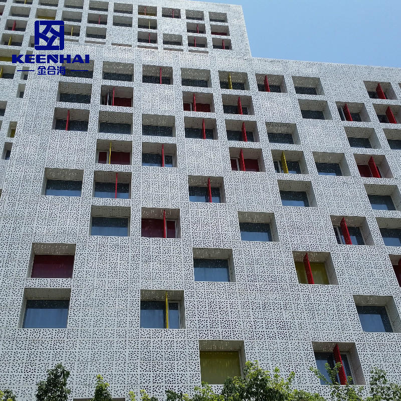 Exterior Large Modern Laser Cut Wall Facade Curtain Wall System