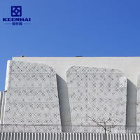 Latest Design Perforated Aluminum Sheet Metal Panel For Facades