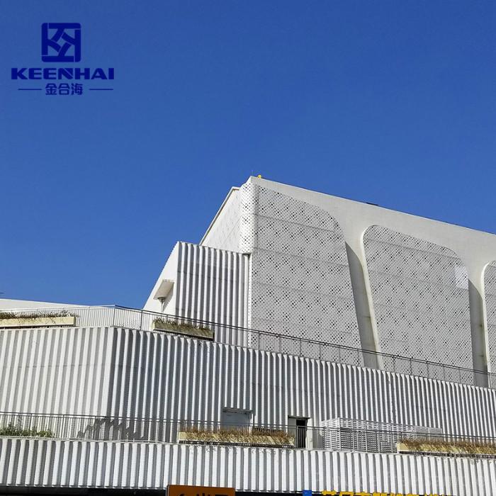 Decorative Perforated Sheet Metal Panels Curtain Wall System Aluminum