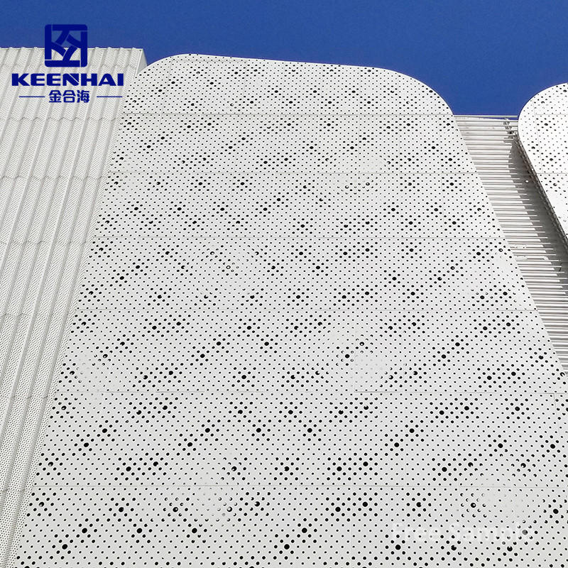 Round Hole Perforated Stainless Steel Sheet Facade Panels For Buildings