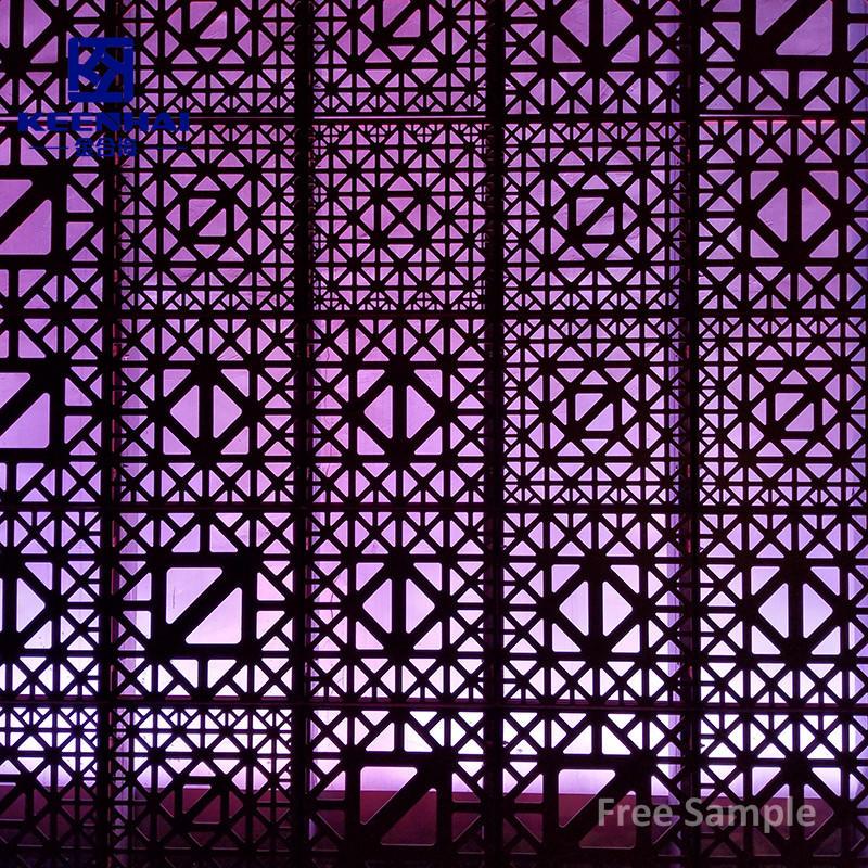 Outdoor Perforated Metal Mesh Plate Aluminium Facade Panel