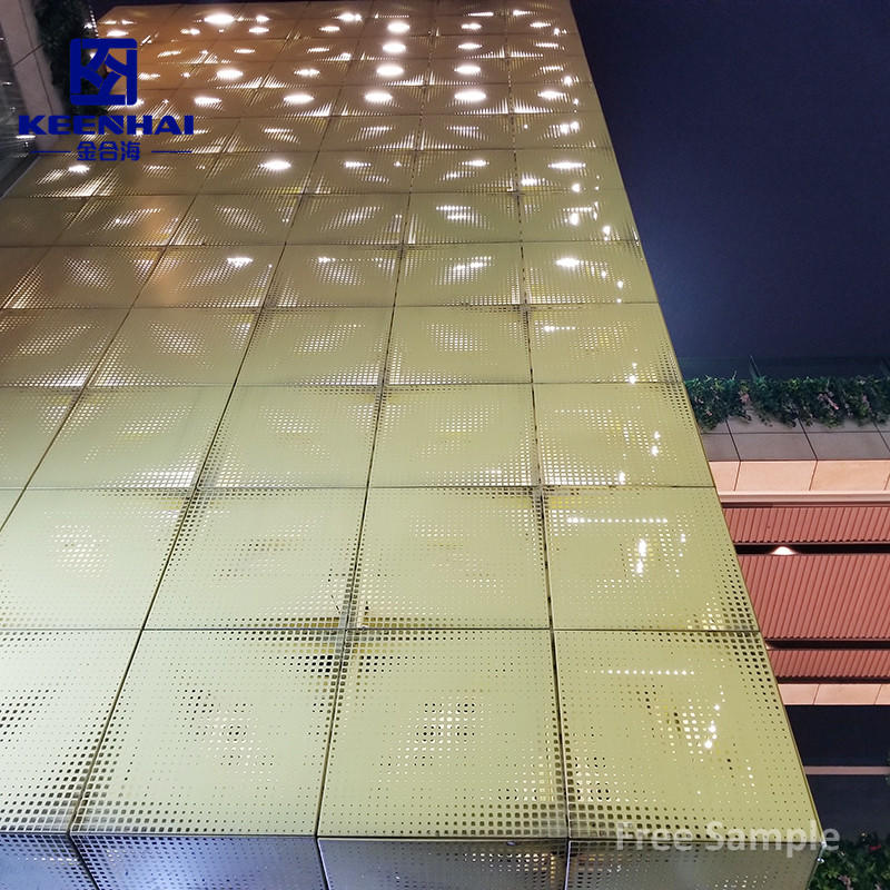 Customized Size Facade Panel Perforated Metal Screen Wall Curtain