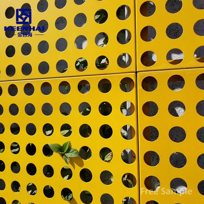 Aluminum Perforated Metal Sheet Wall Panels Exterior Facade