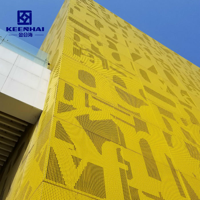 Exterior Large Modern Perforated Sheets Wall Cladding Materials