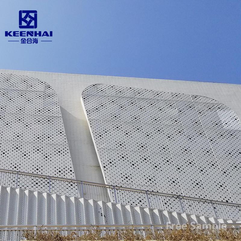 New Facade Building Material Aluminium Perforated Facade Panels