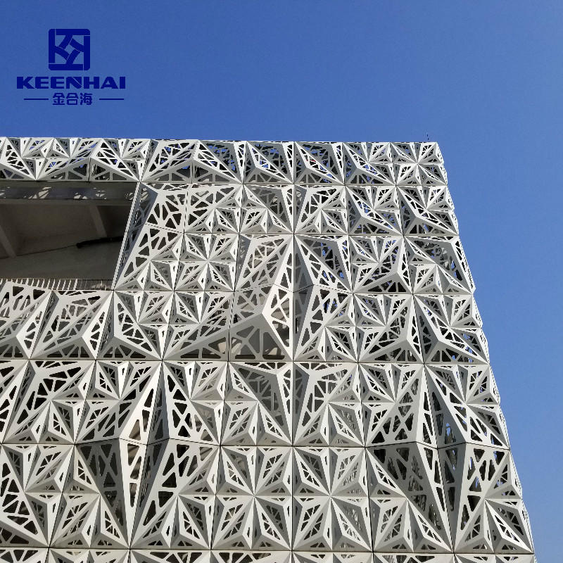 Aluminium Curtain Wall Section Laser Cut Facade Panel