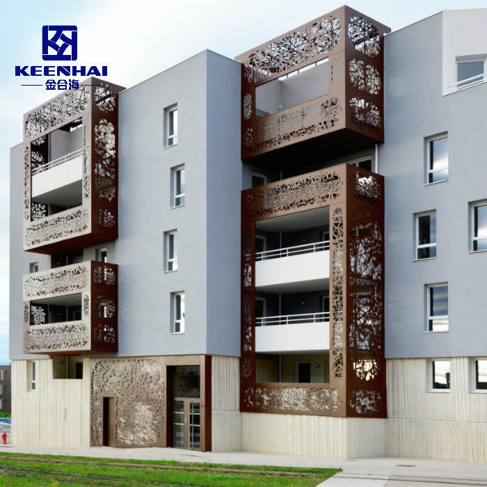 Exterior Decorative Wall Paneling Solid Aluminum Panel For Residential Building