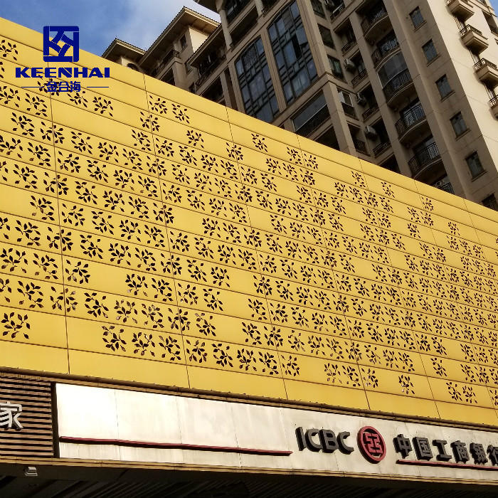 Exterior Decorative Building Aluminium Perforated Facade Panel
