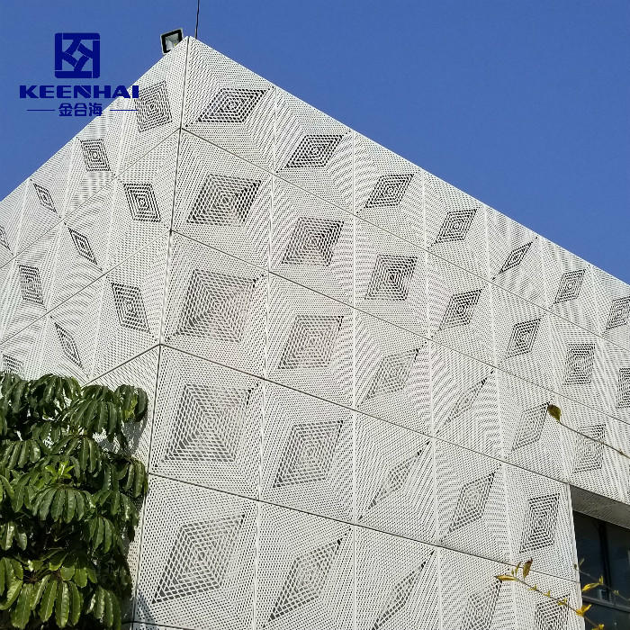 Metal Panel Cover Decorative Wall Exterior Aluminium Perforated Facade Panel