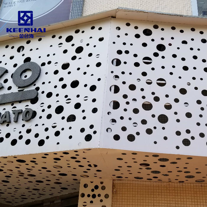 Exterior Facade Materials Metal Panels Perforated Aluminum