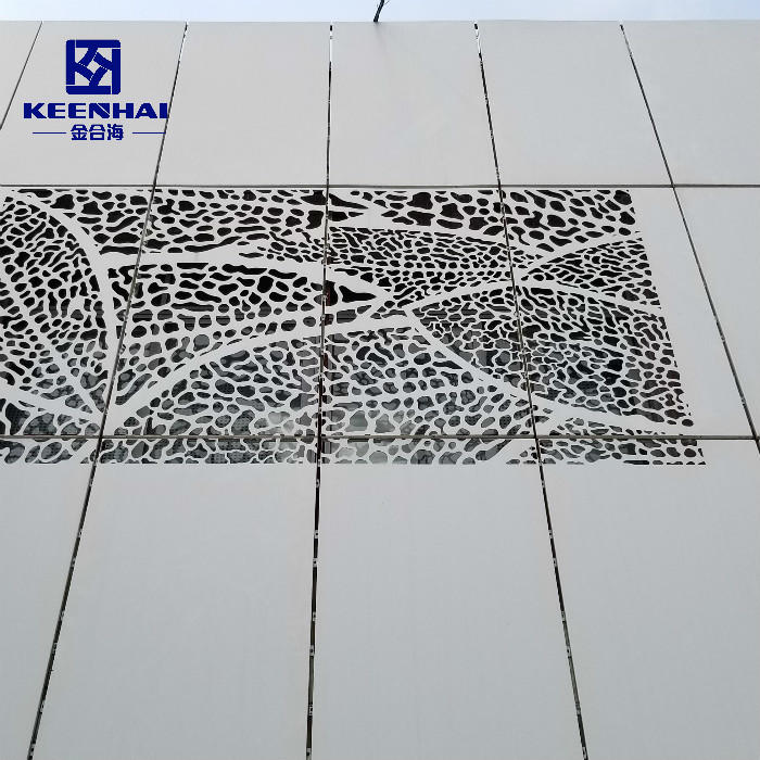 Architectural Aluminium Facades With Round Holes Perforation Pattern Curtain Wall